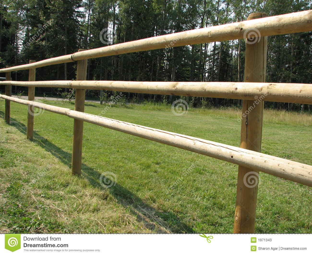 Pole Fence Stock Photos.