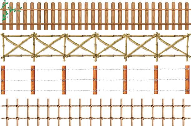 Pole Fence Designs Clip Art Clip Art, Vector Images.