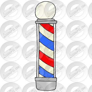 Barber Pole Picture for Classroom / Therapy Use.
