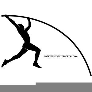 Pole Vaulter Clipart.