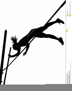 Female Pole Vaulting Clipart.
