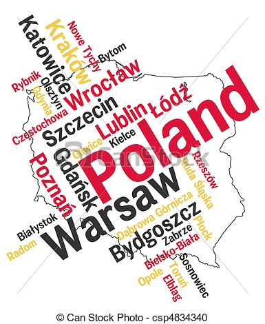 Poland map clipart.
