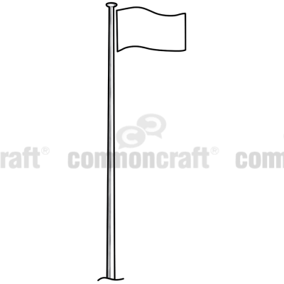 Clipart images of eagles for flag poles.