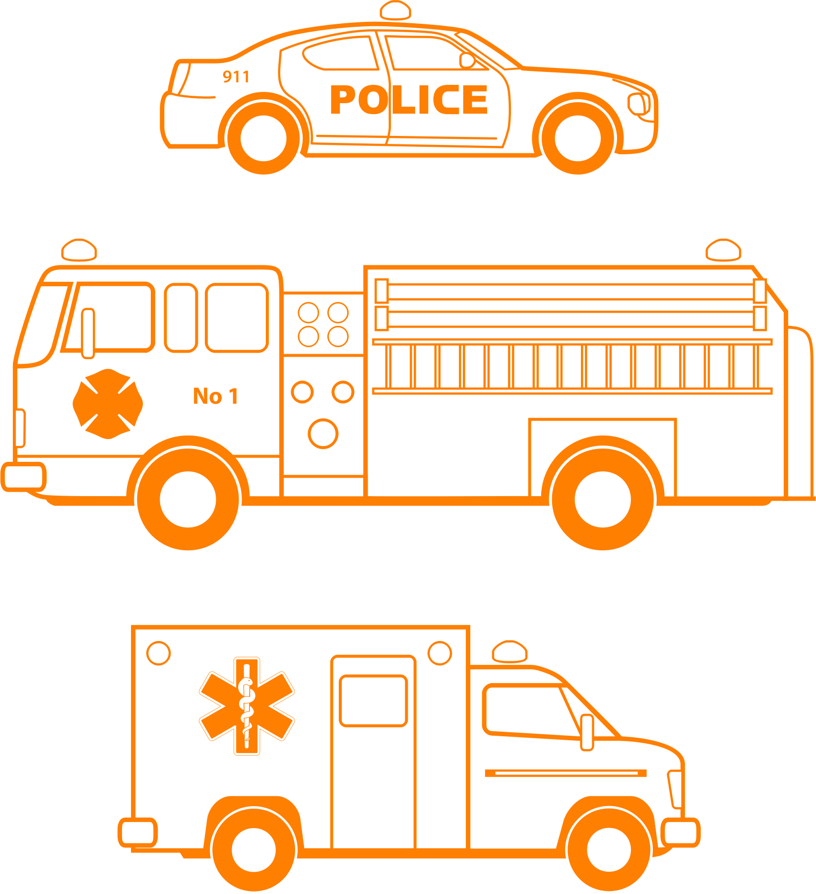 Police And Fire Clipart.