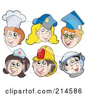 Clipart of a Cartoon White Male Fireman Driving a Fire Truck to a.