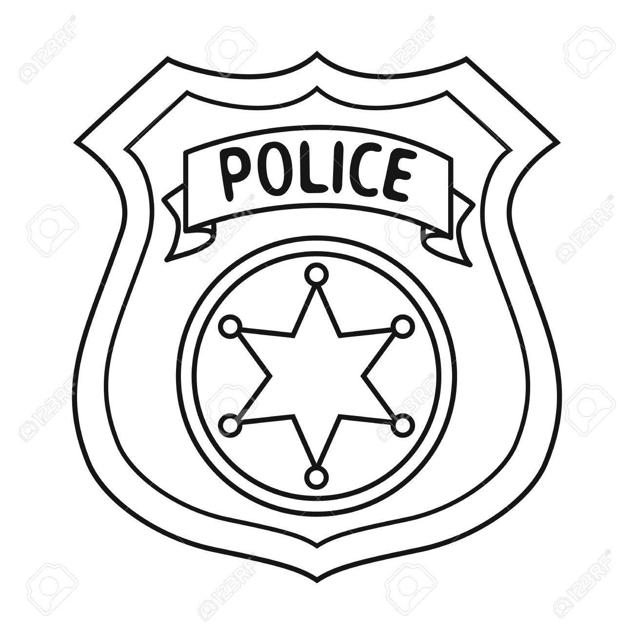 Printable Police Badge.