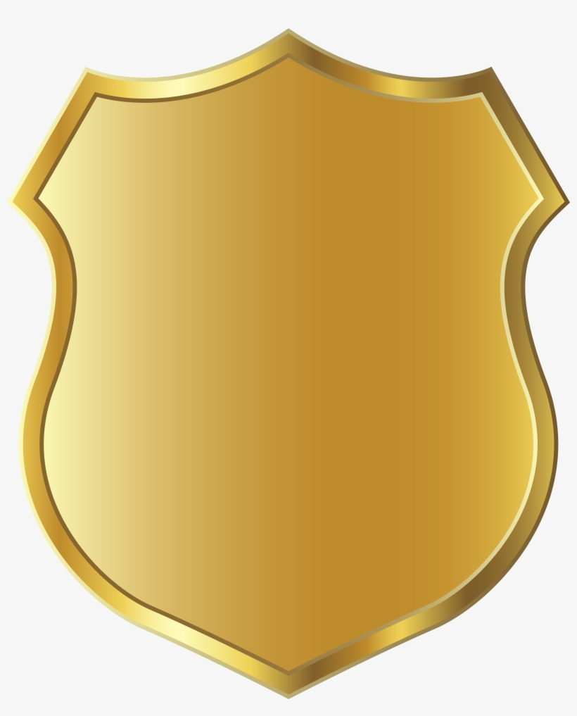 Golden Badge Template Clipart Png Picture.