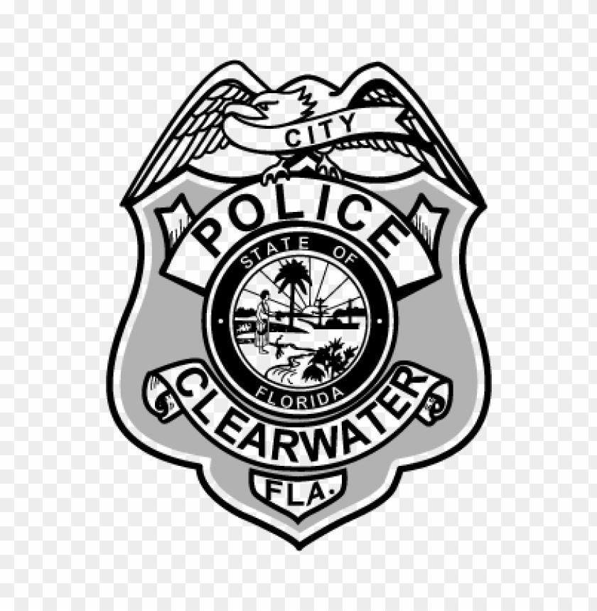 police badge (.eps) vector logo download free.