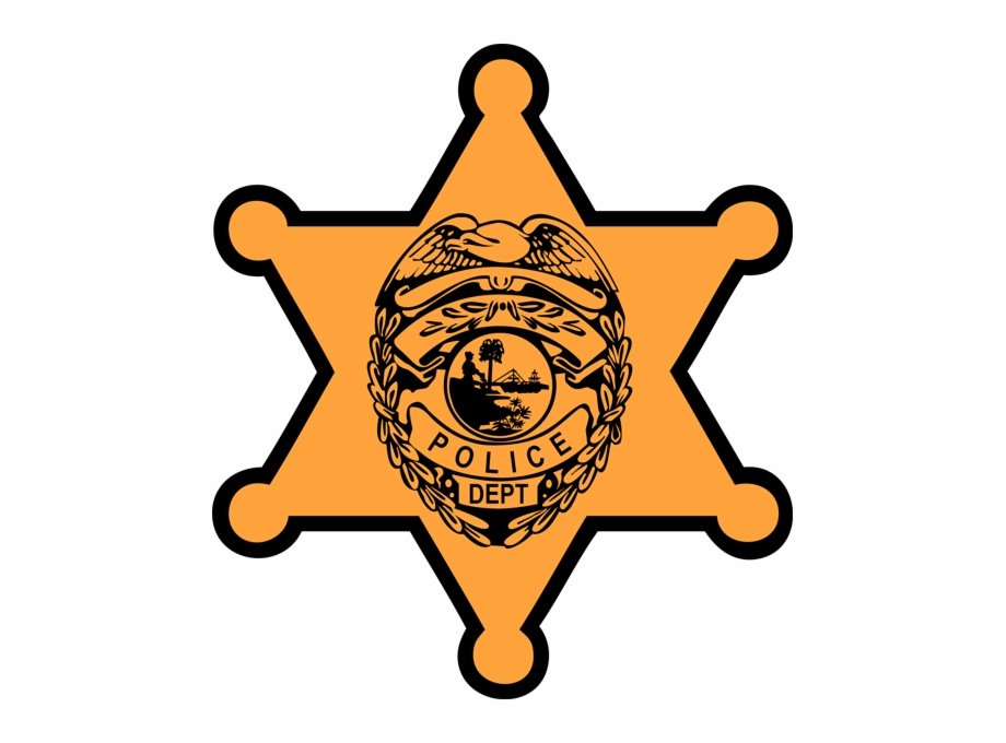 Police Badge Outline Clipart Kid.