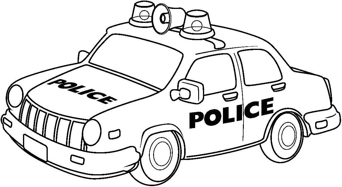 Police Car Black And White Clipart with regard to Police Car.