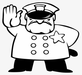 Free Police Black And White Clip Art with No Background.