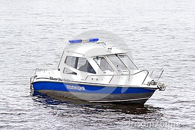 Police Boat Royalty Free Stock Image.