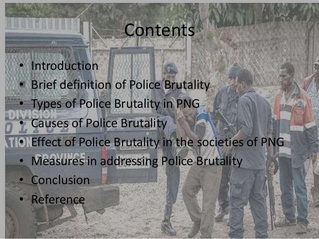 Police Brutality in Papua New Guinea.