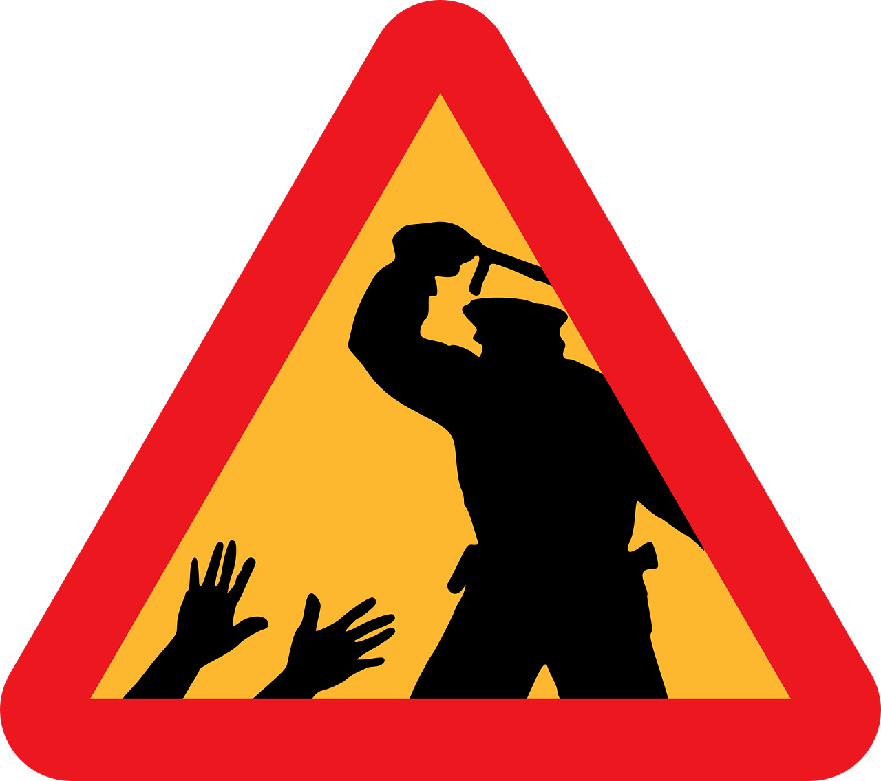 Police Brutality Warning PNG.