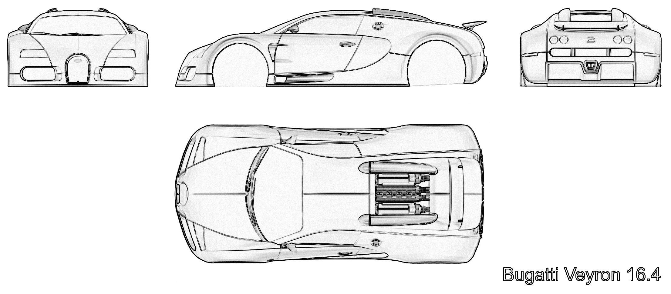 Police Bugatti Chiron Outline Clipart Clipground