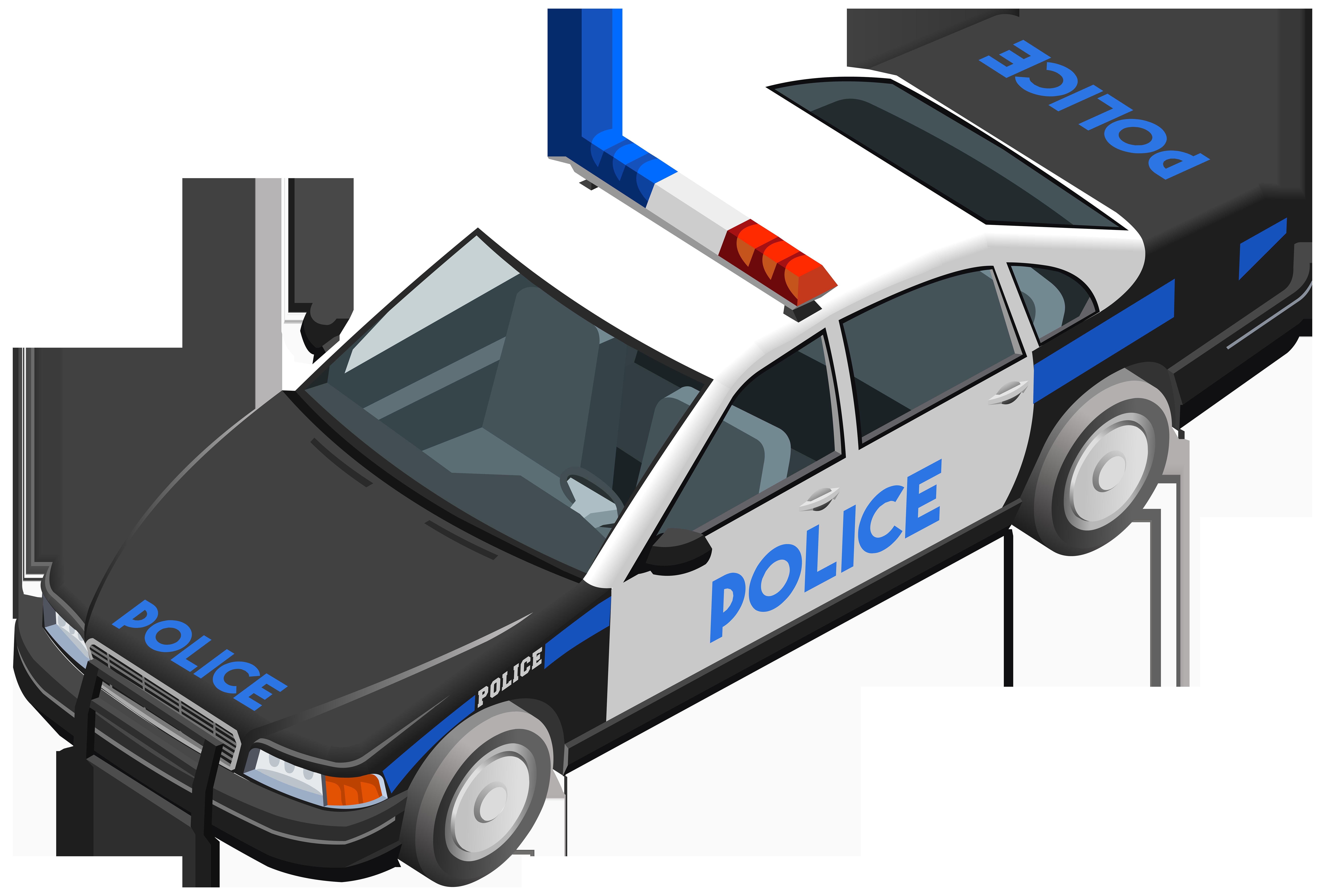 Police Car Clip Art Image.
