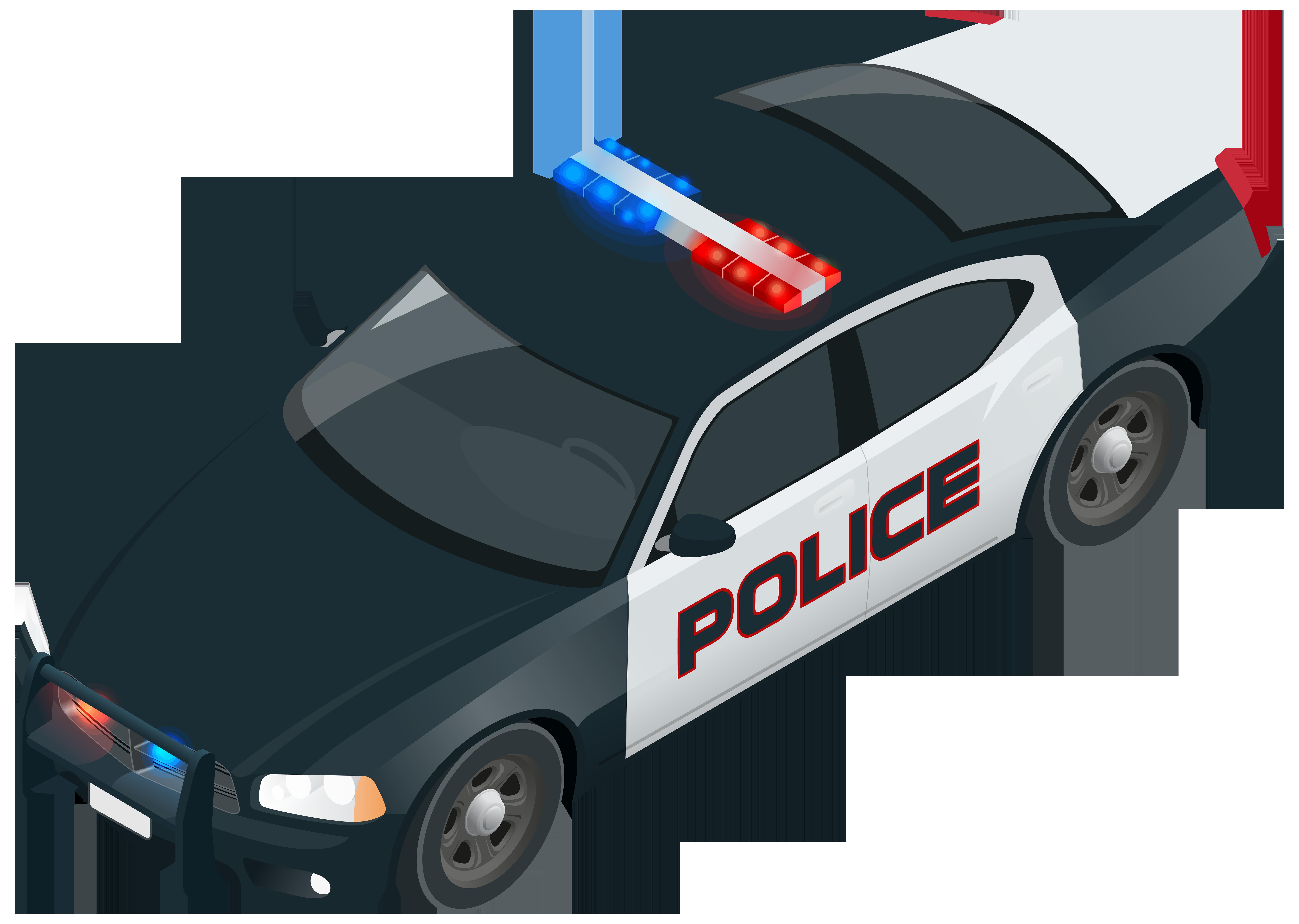 Police Car PNG Clip Art Image.