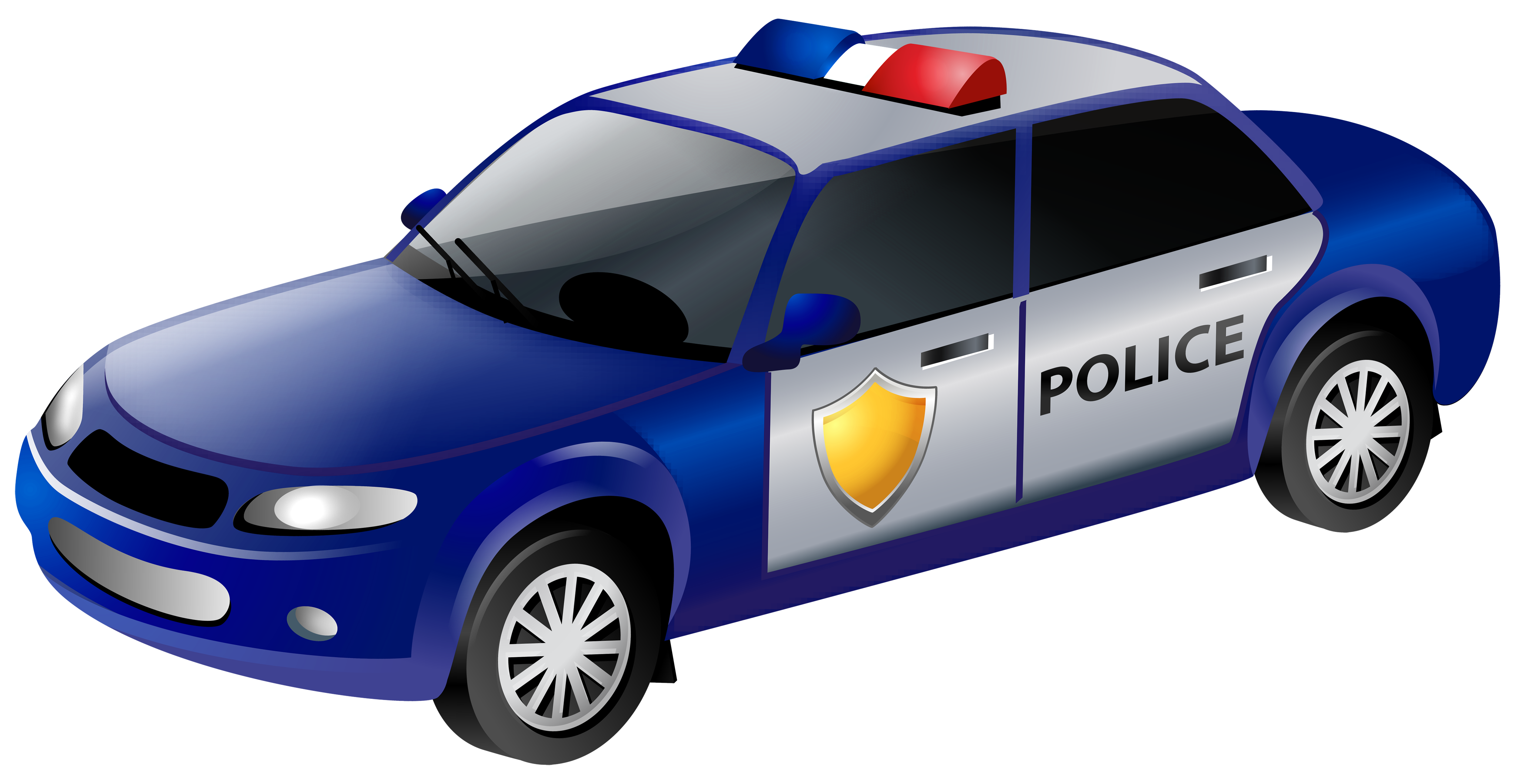 Police Car Clip PNG Art Image.