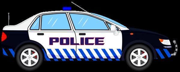 Police Car Transparent PNG Clip Art Image.