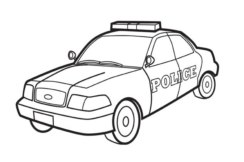 Police car clipart black and white 5 » Clipart Station.