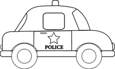 Classic Car Sheriff Coloring Page.