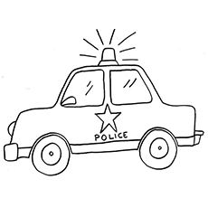 Police Car Clipart Black And White (87+ images in Collection.