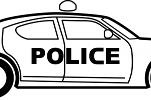 Police car clipart black and white » Clipart Station.