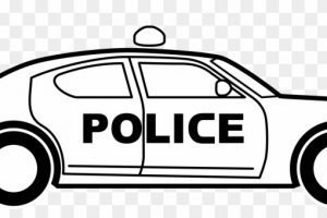 Police car clipart black and white 2 » Clipart Portal.