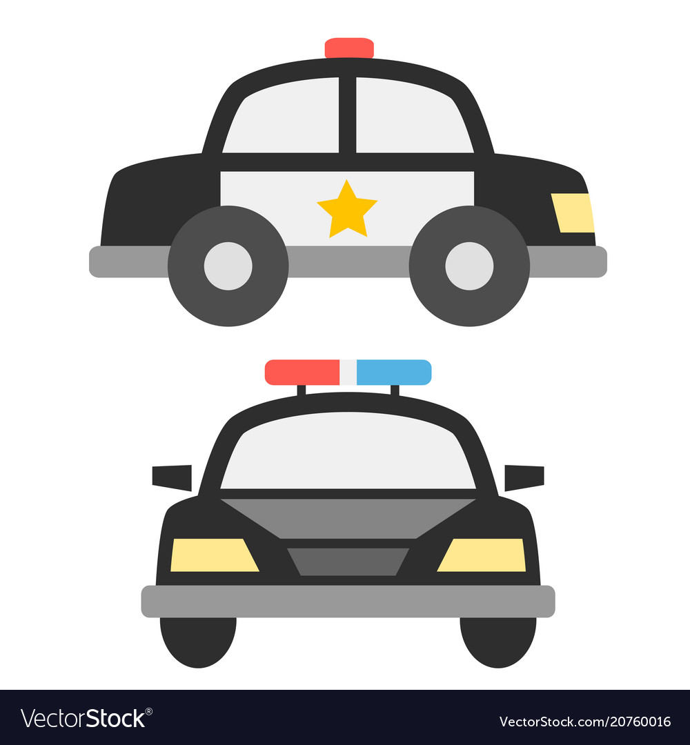 Police car icons.