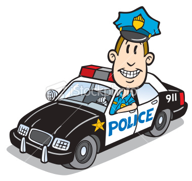 Police Car And Police Man Clipart.