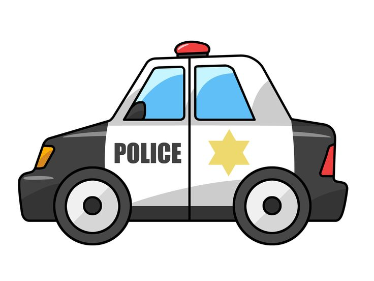Police officer car clipart.