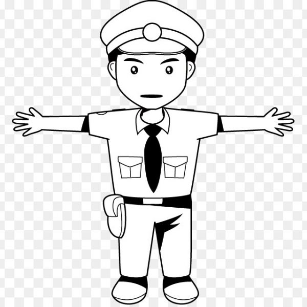 Clip Art Black And White Police Officer Police Uniforms Of.