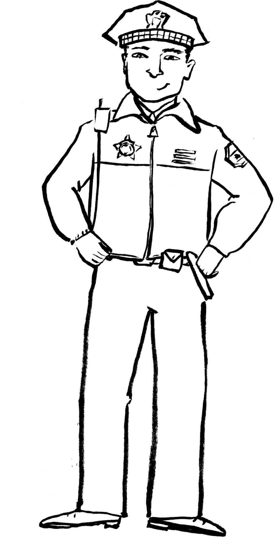 Police Badge Clipart Black And White.