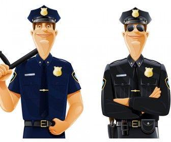 Policeman vector clipart.