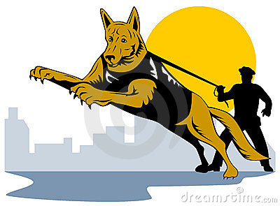 Police Dog Stock Illustrations.