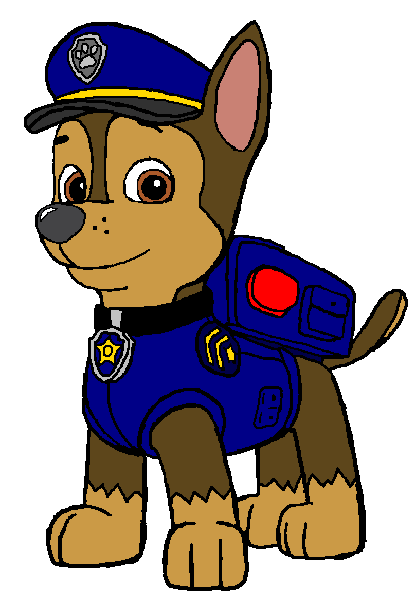 Paw patrol police dog clipart.