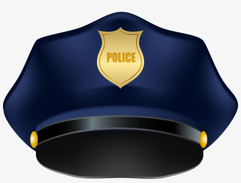Blue Police Hat Png Clip Art Image.