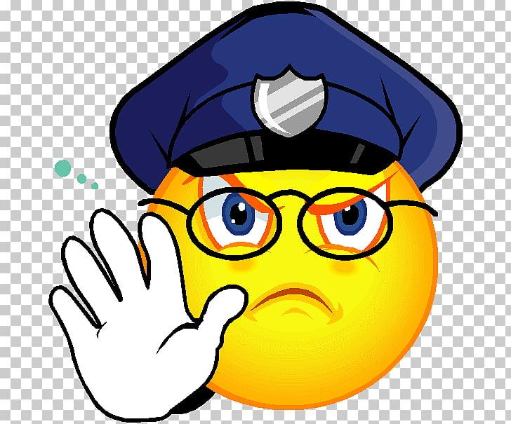 Smiley Emoticon Police Emoji , smiley PNG clipart.
