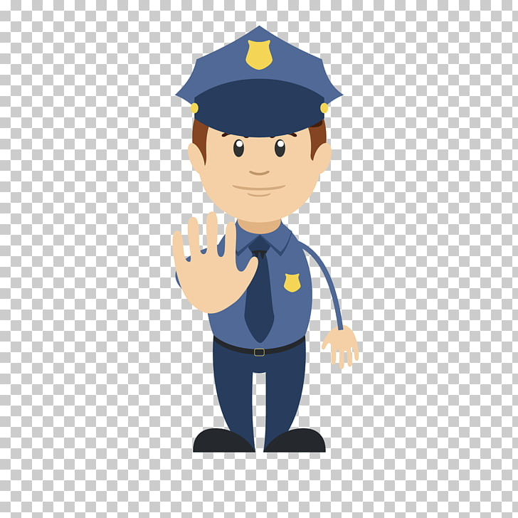 Safety Internet Emoji, Respectable cute police uncle PNG.