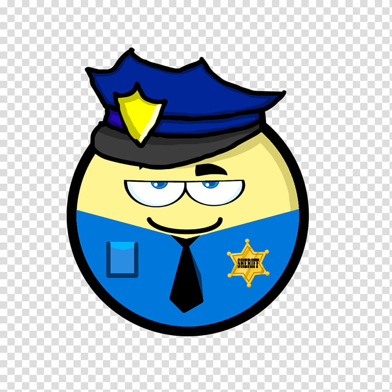 Cartoon people, police emoji transparent background PNG.