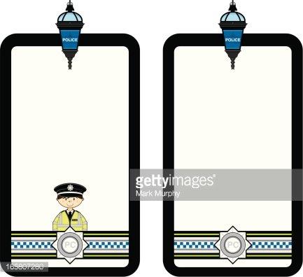 British Police Officer Frame Clipart Image.