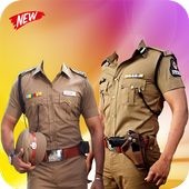 Police Dress Photo Frame for Android.