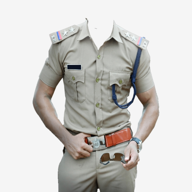 Police Frame Png Dress Design, India, Police Men, Police PNG.