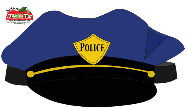 Police Hat Cute Clipart.