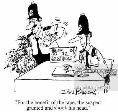 Police Interview Cartoons and Comics.