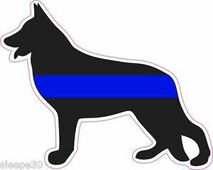 Details about German Shepherd Thin Blue Line Police Dog K9 UNIT Vinyl  Window Decal Sticker.