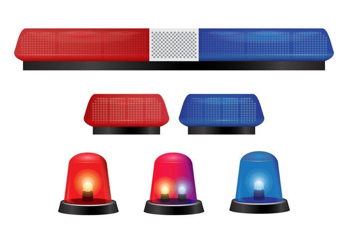 Police Lights and Siren Vectors.