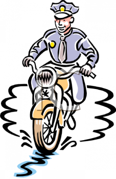 Police Motorcycle Clipart.
