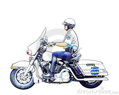 Motorcycle Policeman Royalty Free Stock Photo.
