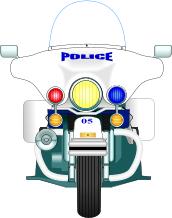 Motorcycle Cop Clipart.